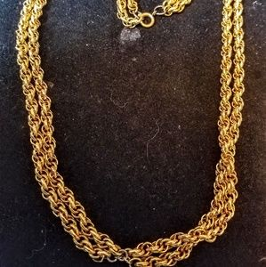 Jewelry - Vintage double link 2 strand necklace